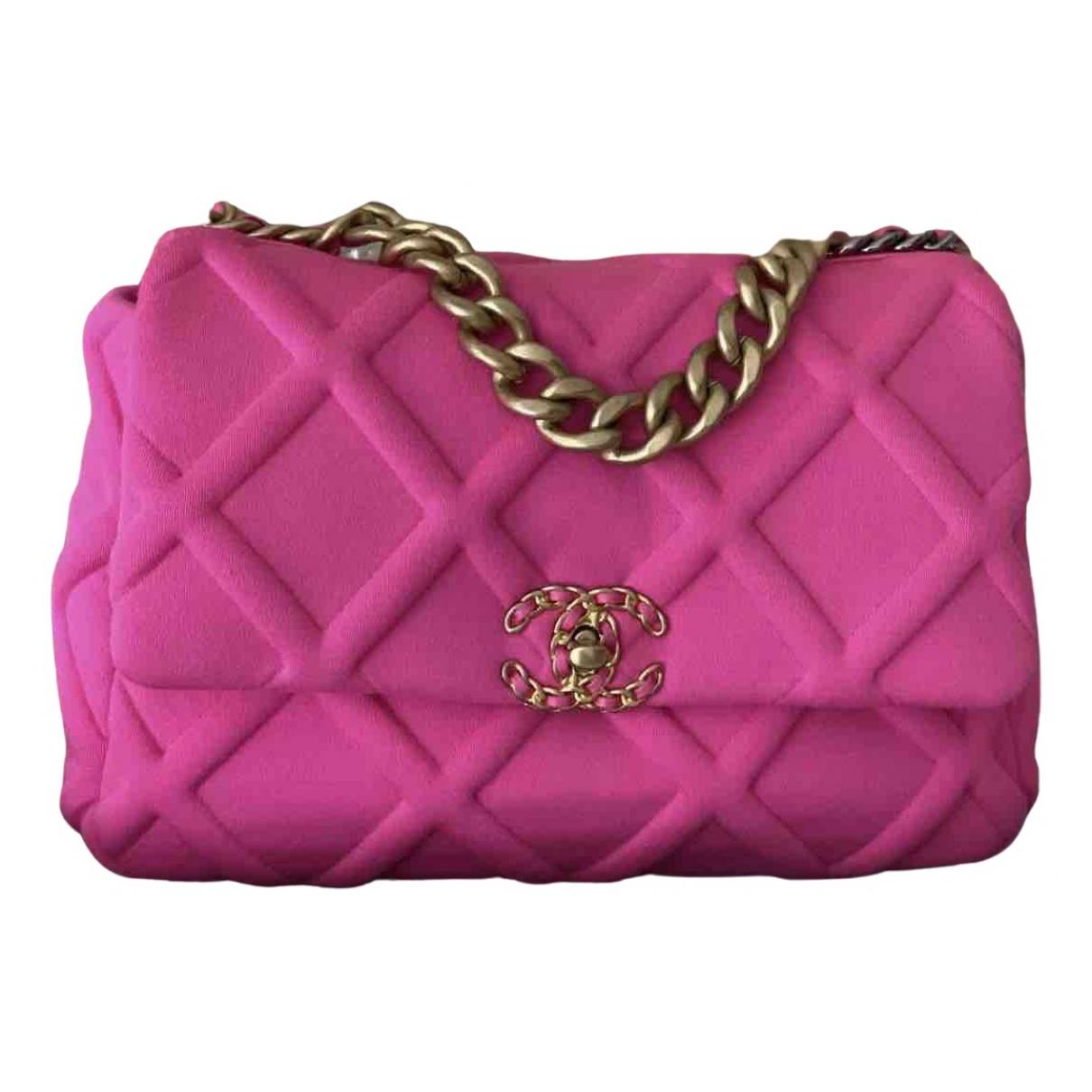 Chanel Chanel 19 Pink Cloth handbag for Women N