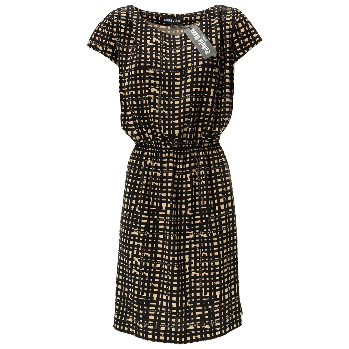 5 Preview \N Kleid in  Schwarz Polyester