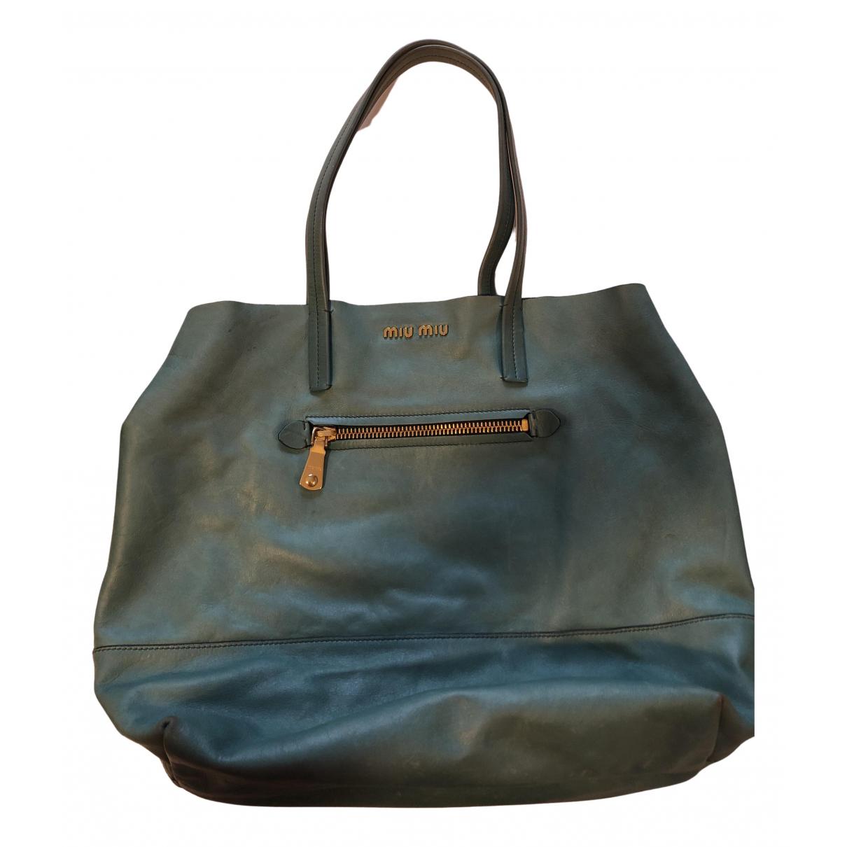Miu Miu N Turquoise Leather handbag for Women N