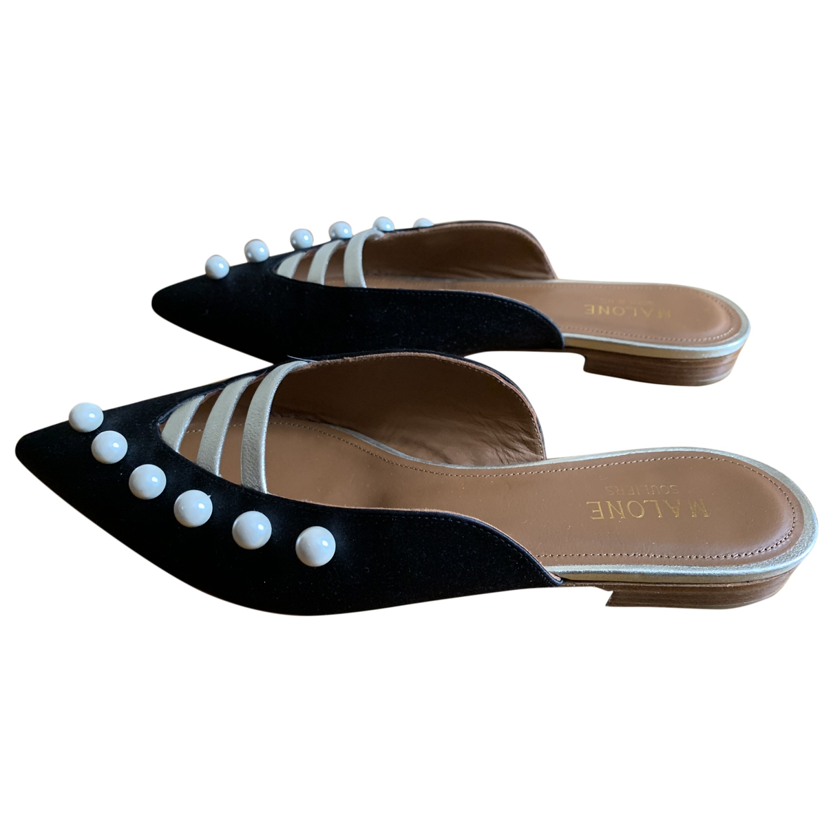Malone Souliers \N Black Cloth Sandals for Women 37 EU
