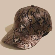Men Snakeskin Pattern Baseball Cap
