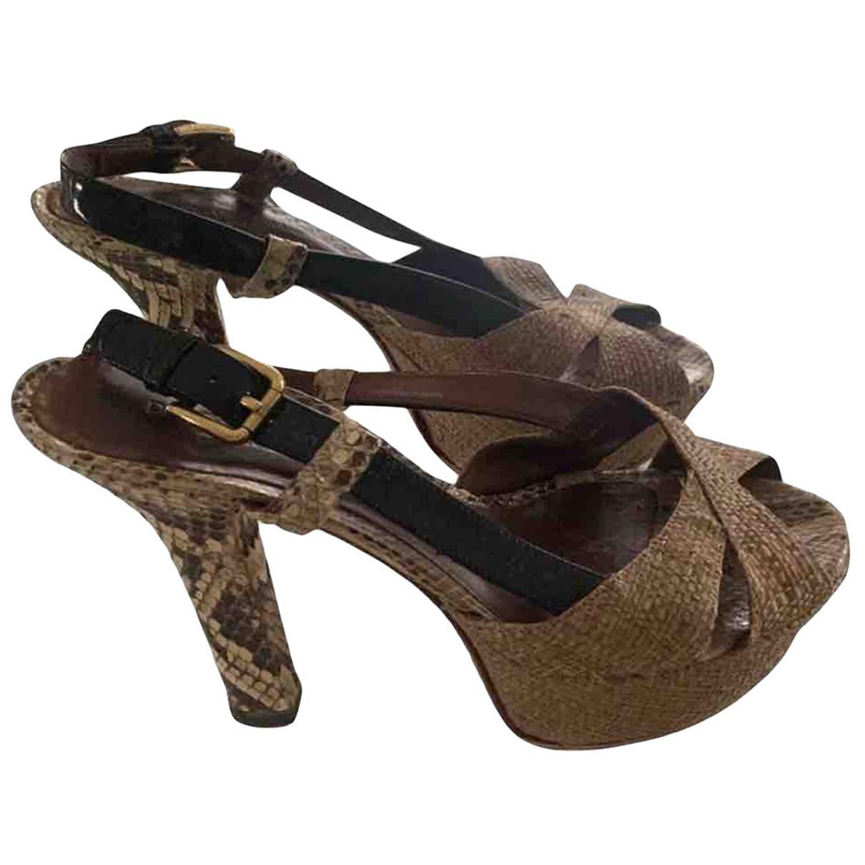 Dolce & Gabbana \N Sandalen in  Beige Leinen