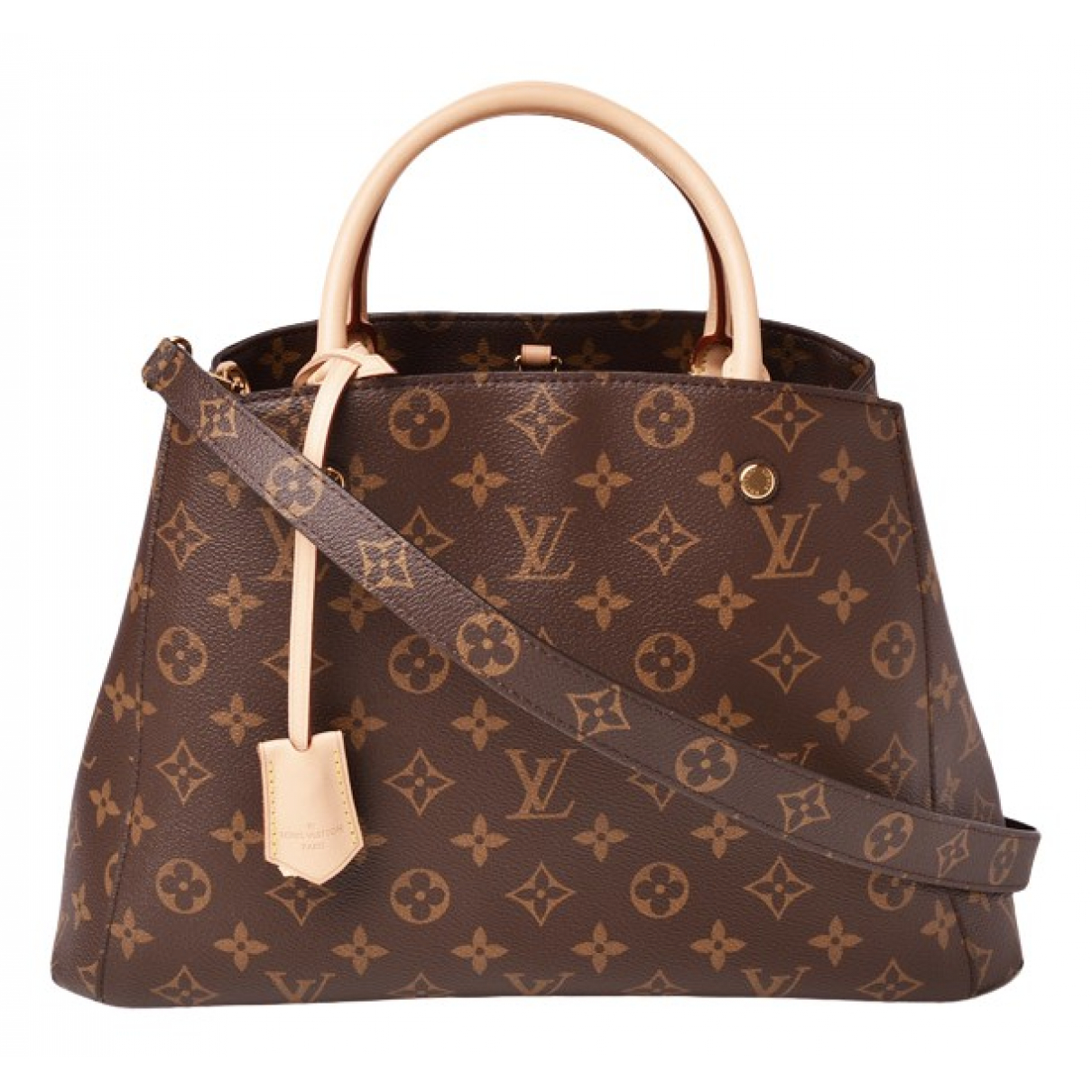 Louis Vuitton Montaigne Brown Cloth handbag for Women \N