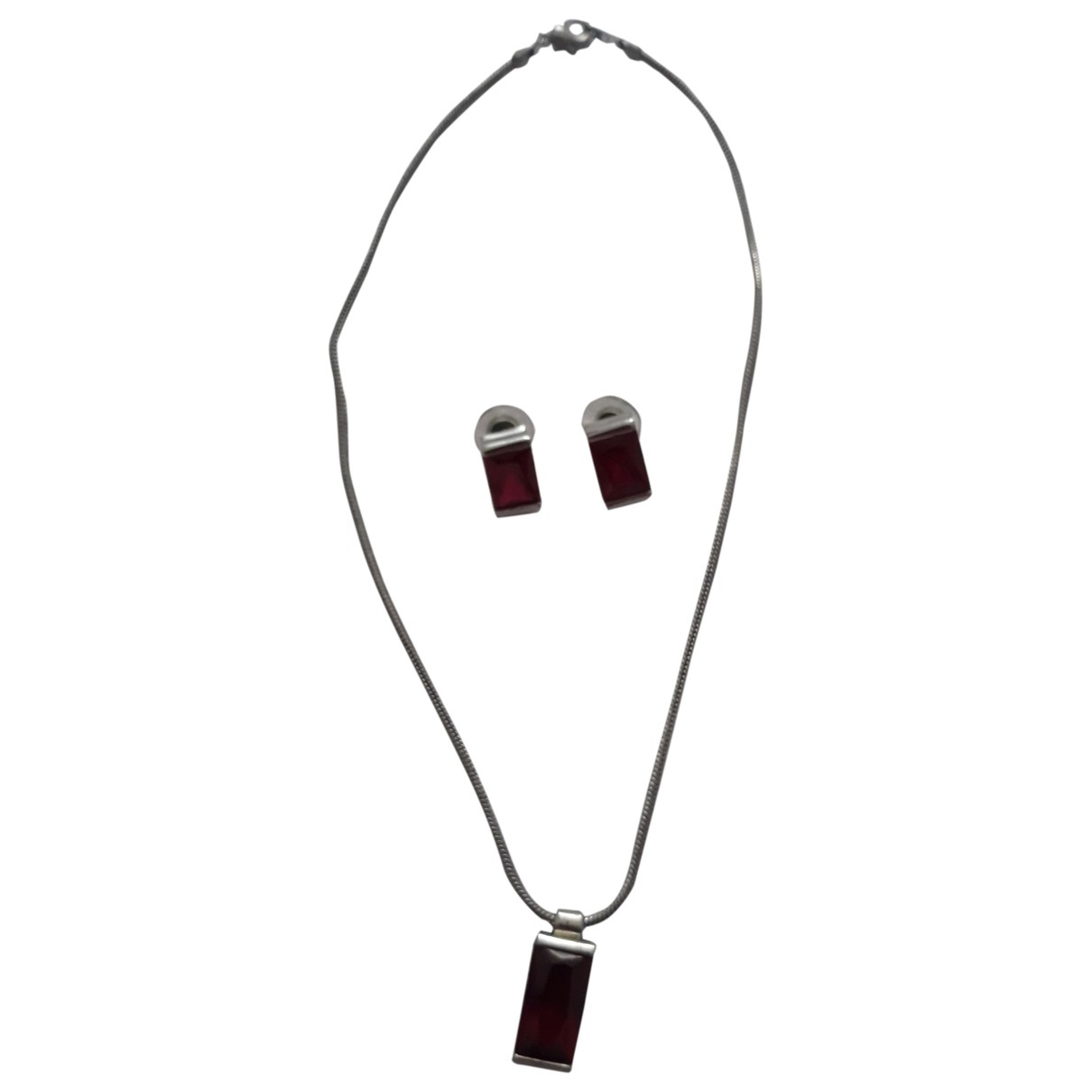 Non Signe / Unsigned \N Schmuck-set in  Rot Stahl