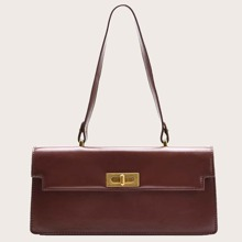 Turn-lock Flap Shoulder Bag