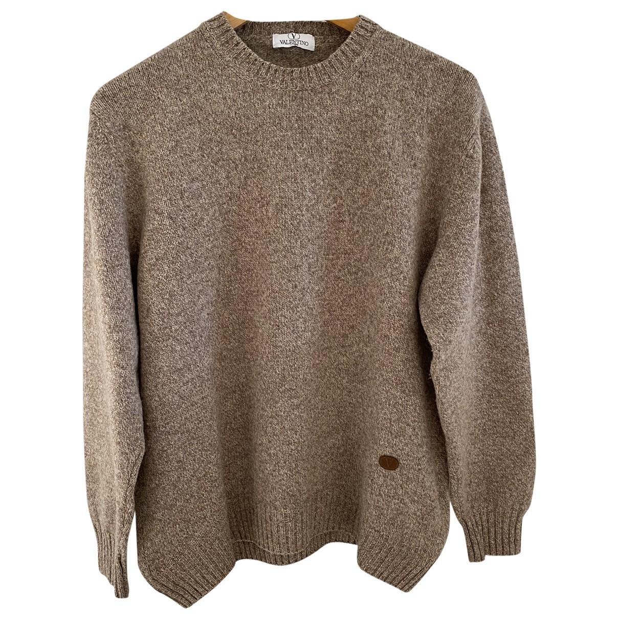 Valentino Garavani \N Pullover.Westen.Sweatshirts  in  Beige Wolle