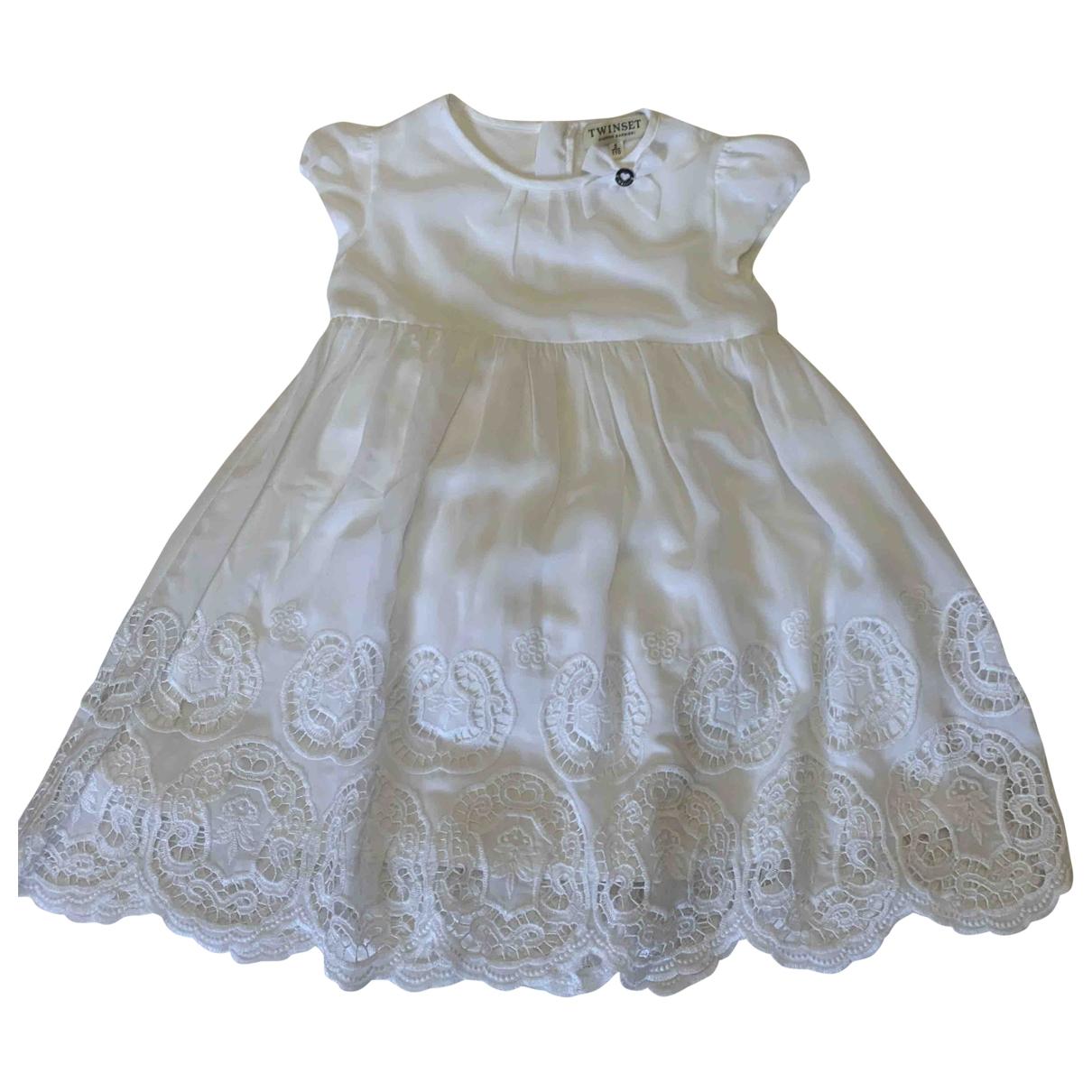 Twin Set - Robe    pour enfant - blanc
