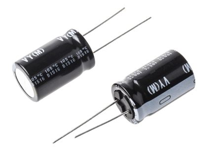 Nichicon 1000μF Electrolytic Capacitor 63V dc, Through Hole - UVY1J102MHD (2)