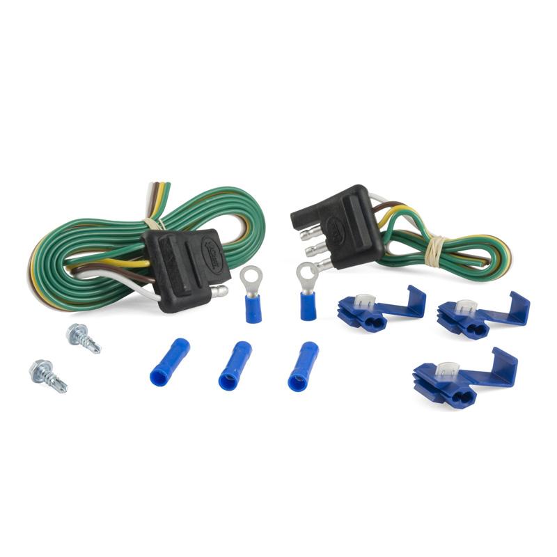 Curt 58305 4-Way Flat Connector Plug & Socket with 12
