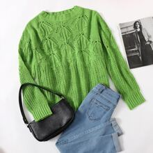 Strick einfarbiger Pullover