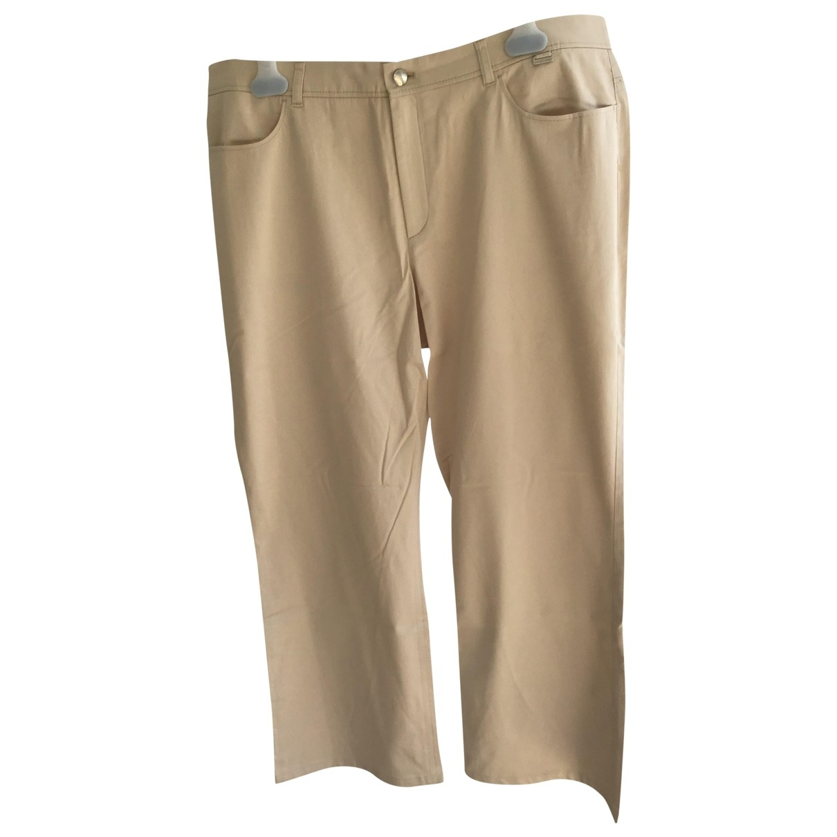 Escada \N Beige Cotton Trousers for Women 46 FR