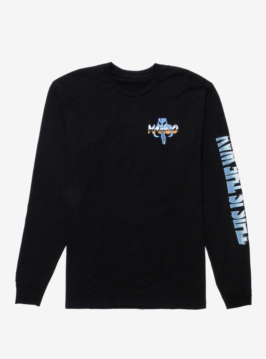 Star Wars The Mandalorian Chrome Long Sleeve T-Shirt - BoxLunch Exclusive