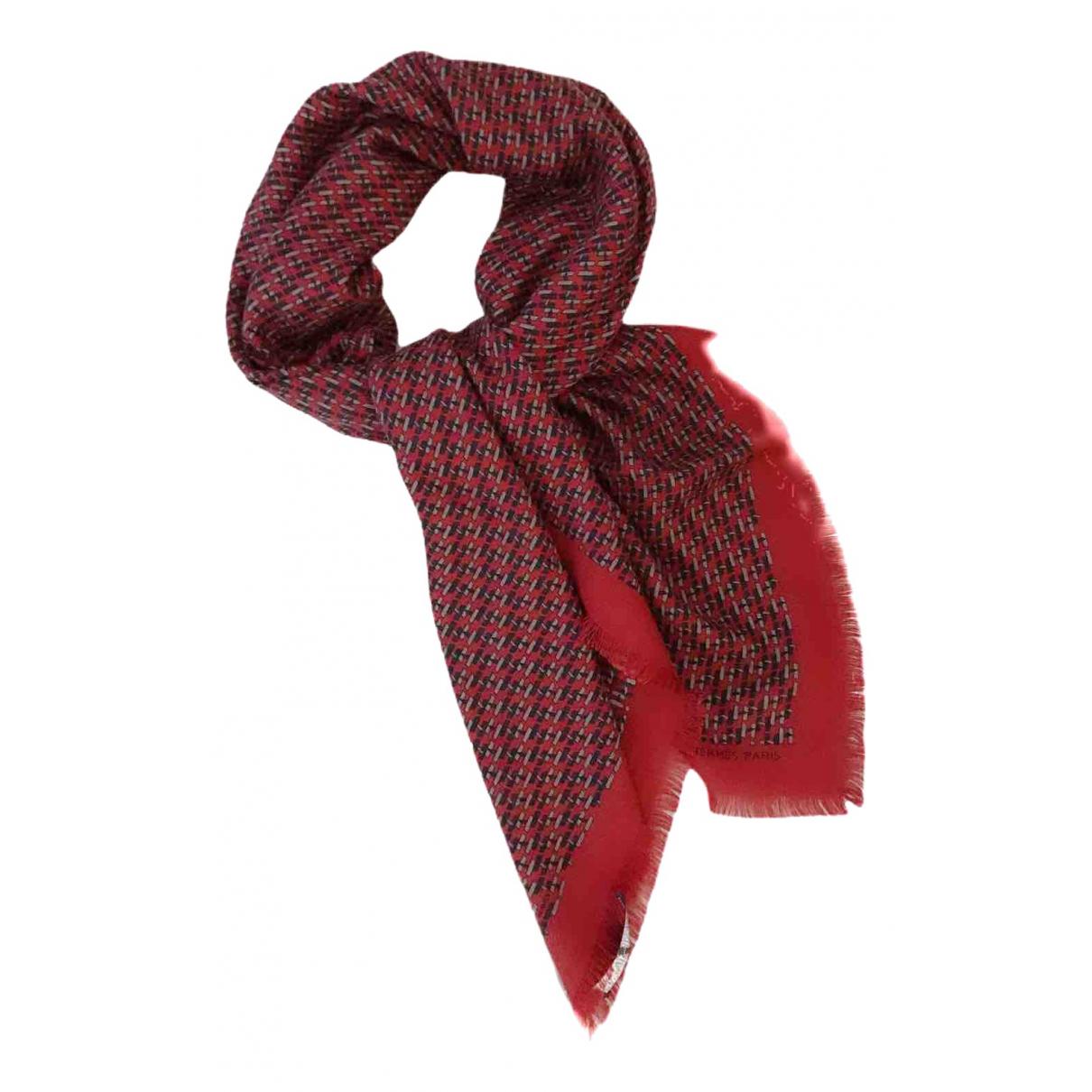 Hermès Carré H 100 Red Cashmere scarf & pocket squares for Men N