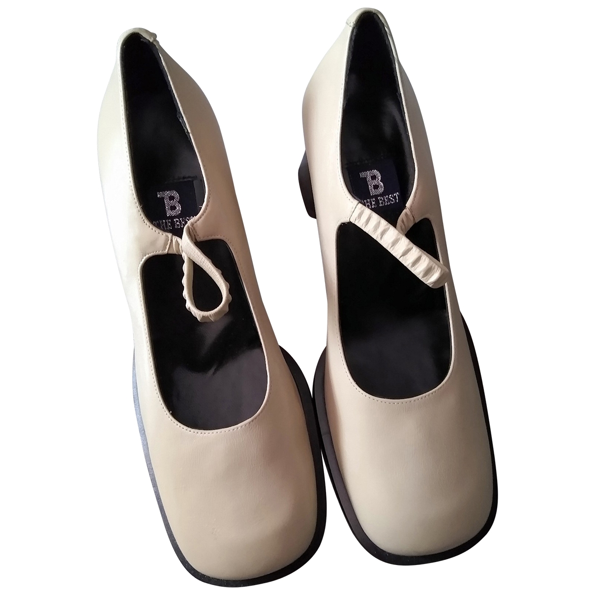 Non Signé / Unsigned \N Beige Leather Heels for Women 36 EU