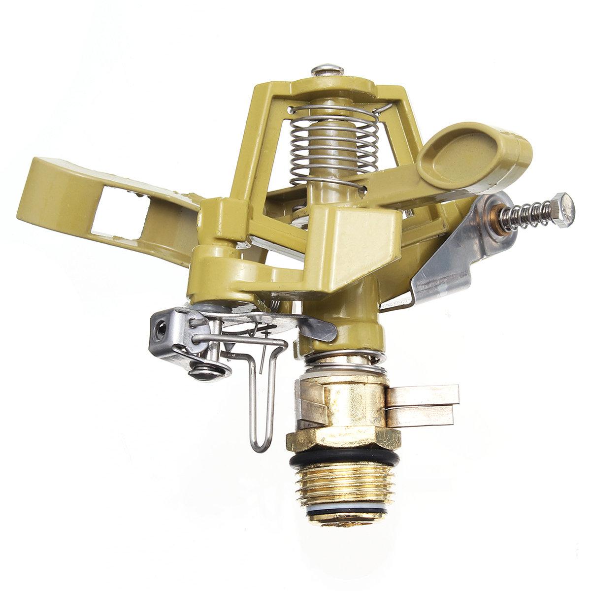 Garden Metal Impulse Spike Water Sprinkler Sprayer Watering Lawn 360°Rotary Yard Irrigation