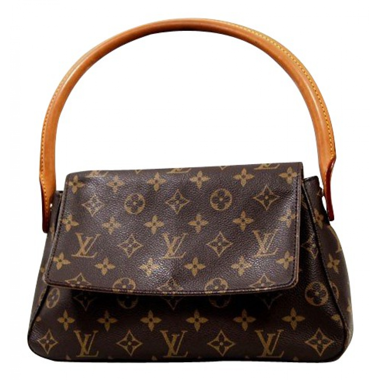 Louis Vuitton - Sac a main Looping pour femme en toile - marron