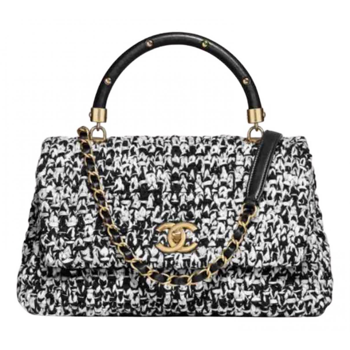 Chanel \N Handtasche in  Schwarz Tweed