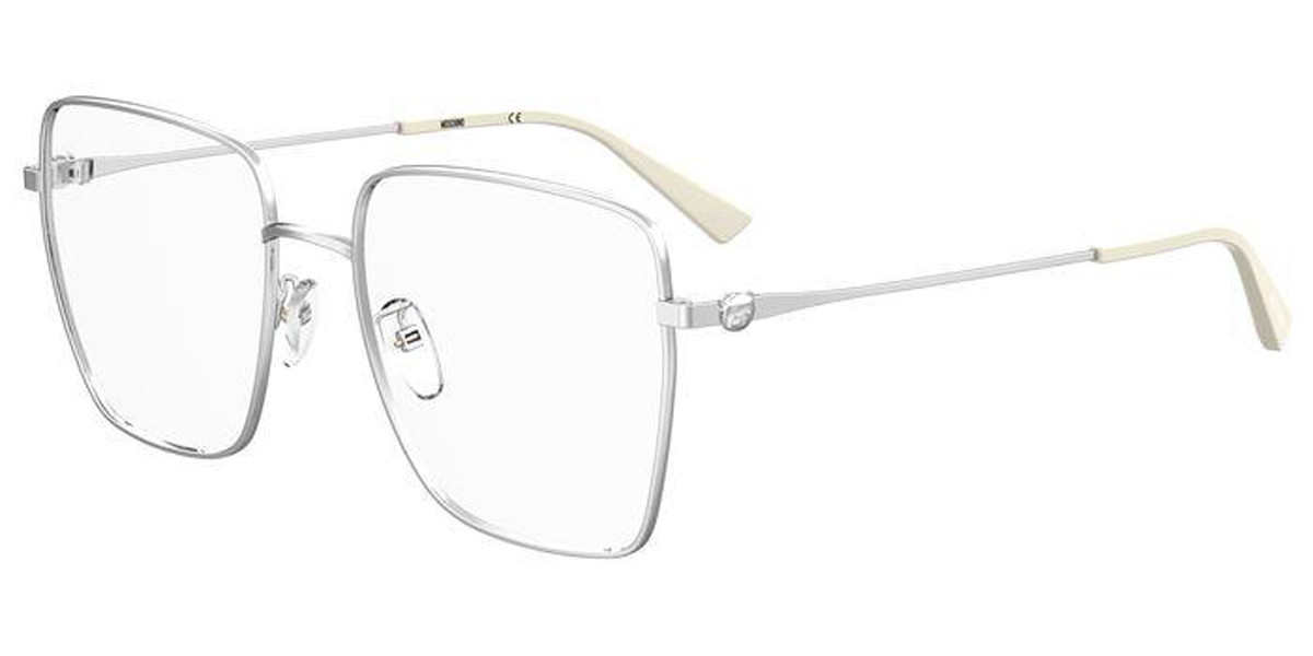 Moschino MOS577/G 010 Women's Glasses Silver Size 56 - Free Lenses - HSA/FSA Insurance - Blue Light Block Available