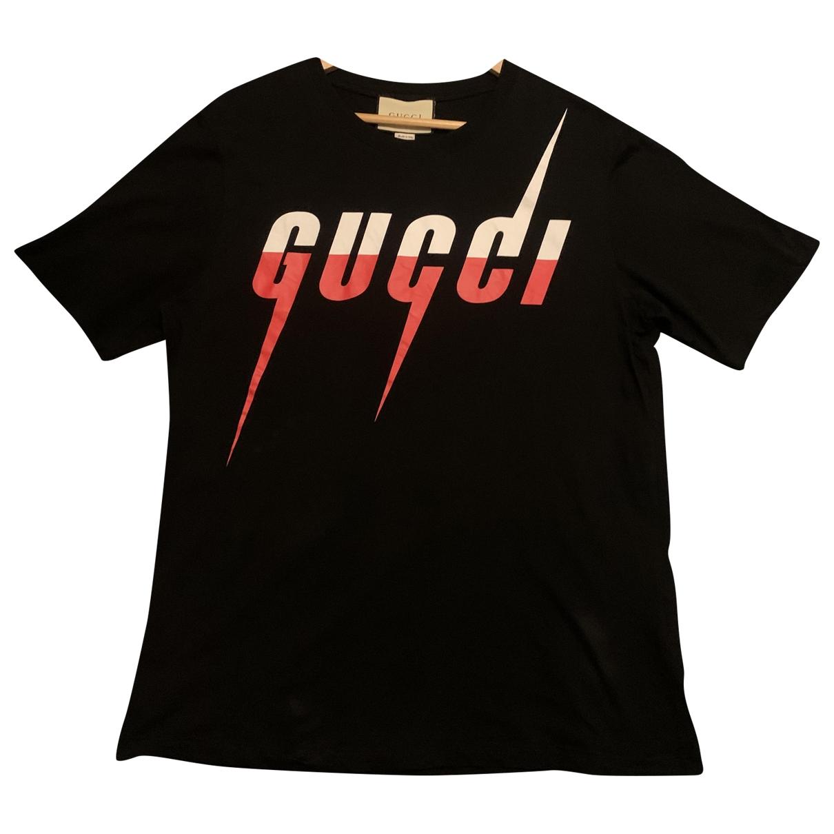 Gucci - Tee shirts   pour homme en coton - noir