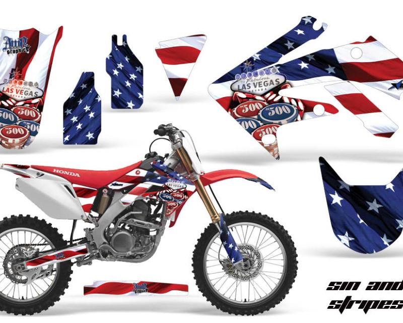 AMR Racing Dirt Bike Graphics Kit Decal Sticker Wrap For Honda CRF250R 2004-2009áUSA SINS
