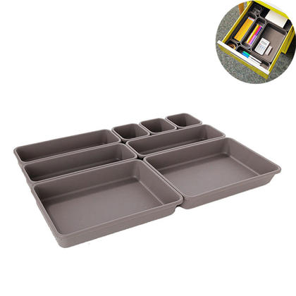 Organisateur de rangement pour tiroir à emboîtement, boîte de séparation cubique, 8 en 1