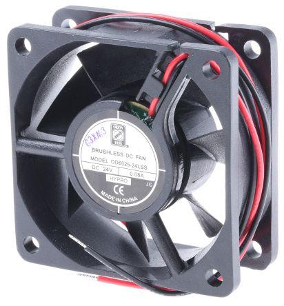 RS PRO , 24 V dc, DC Axial Fan, 60 x 60 x 25mm, 22.1m³/h, 1W