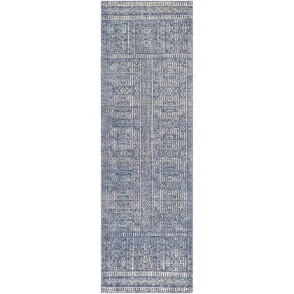 Livorno LVN-2301 26 x 8 Runner Traditional Rug in Charcoal