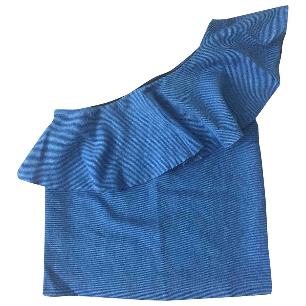 Bel Air \N Top in  Blau Baumwolle