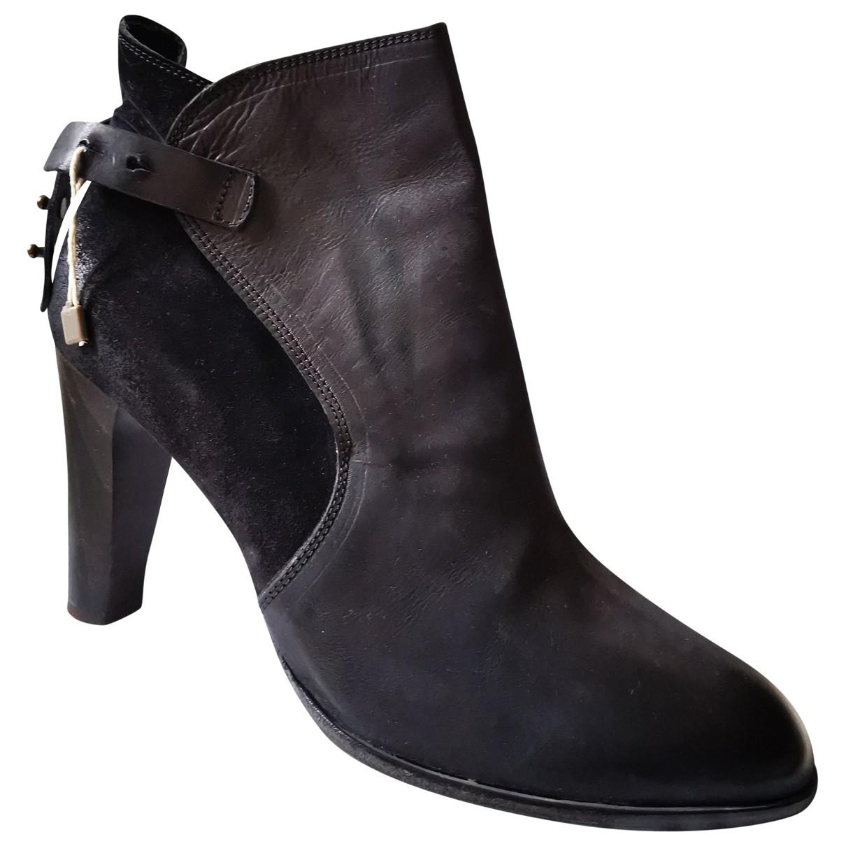 N.d.c. Made By Hand - Bottes   pour femme en cuir - noir