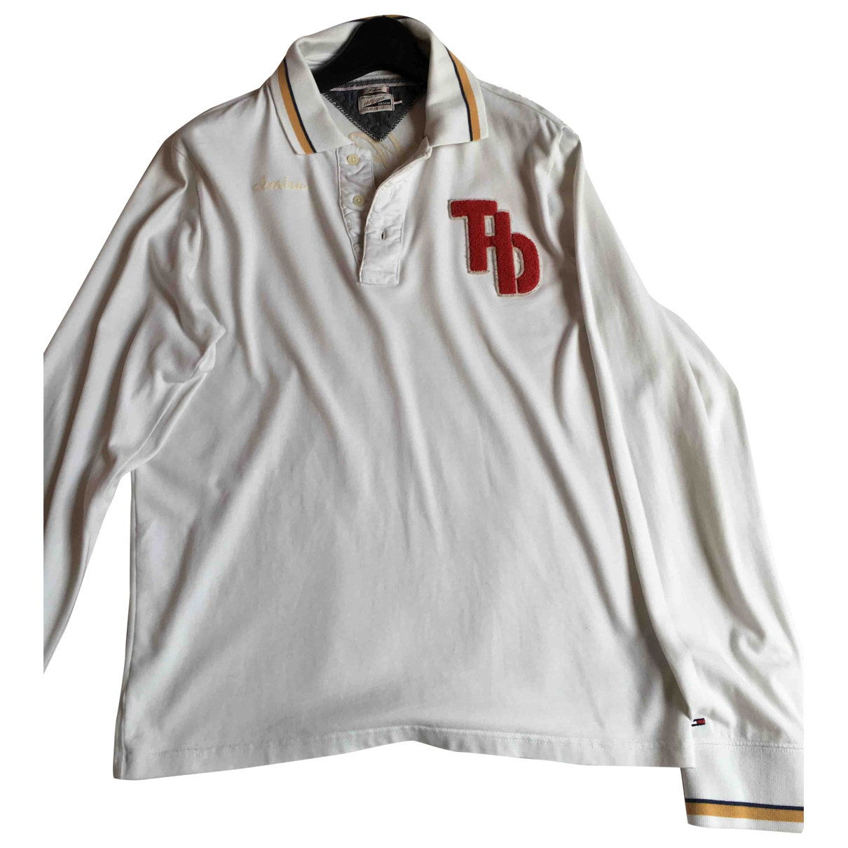 Tommy Hilfiger \N White Cotton Polo shirts for Men M International
