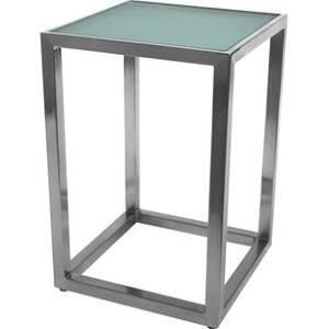 130538 20D x 25.25H Annie End Table in Satin Nickel Metal &