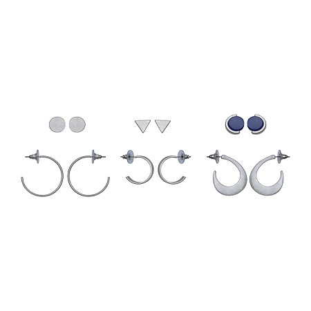 a.n.a 6 Pair Earring Set, One Size , Blue