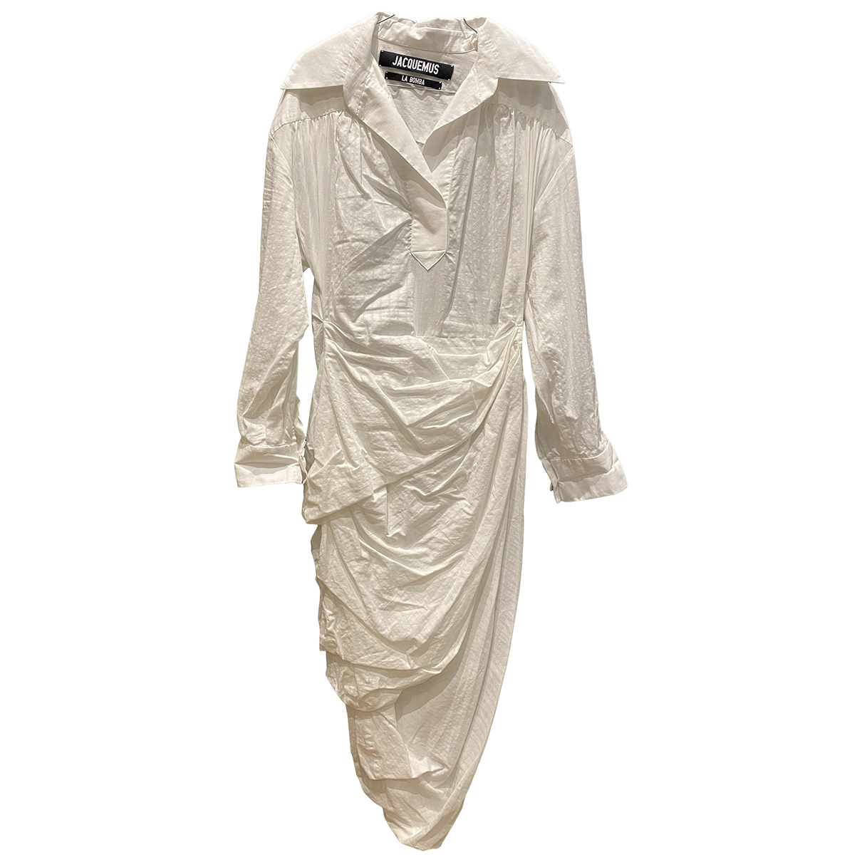 Jacquemus La Bomba White Cotton dress for Women 38 FR