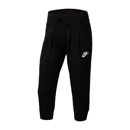 Nike Big Girls Capri Leggings, X-large , Black
