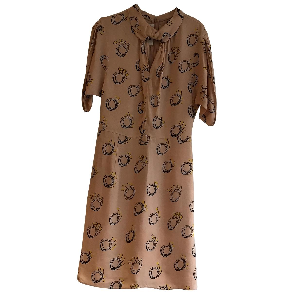Marni \N Kleid in  Beige Viskose