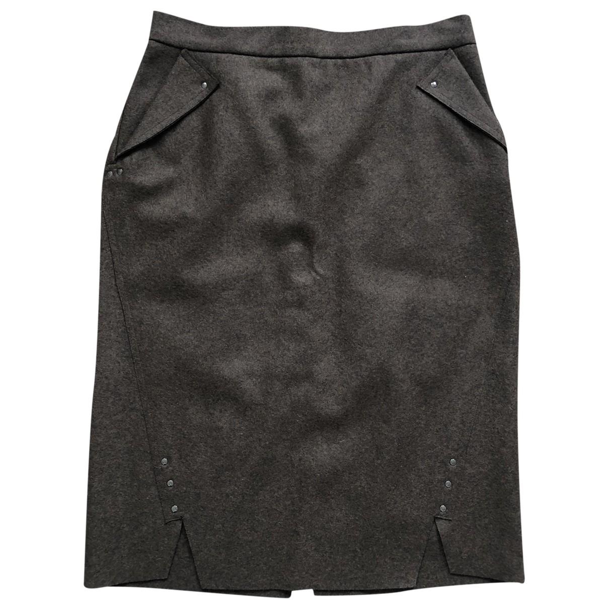 Max Mara - Jupe   pour femme en laine - marron