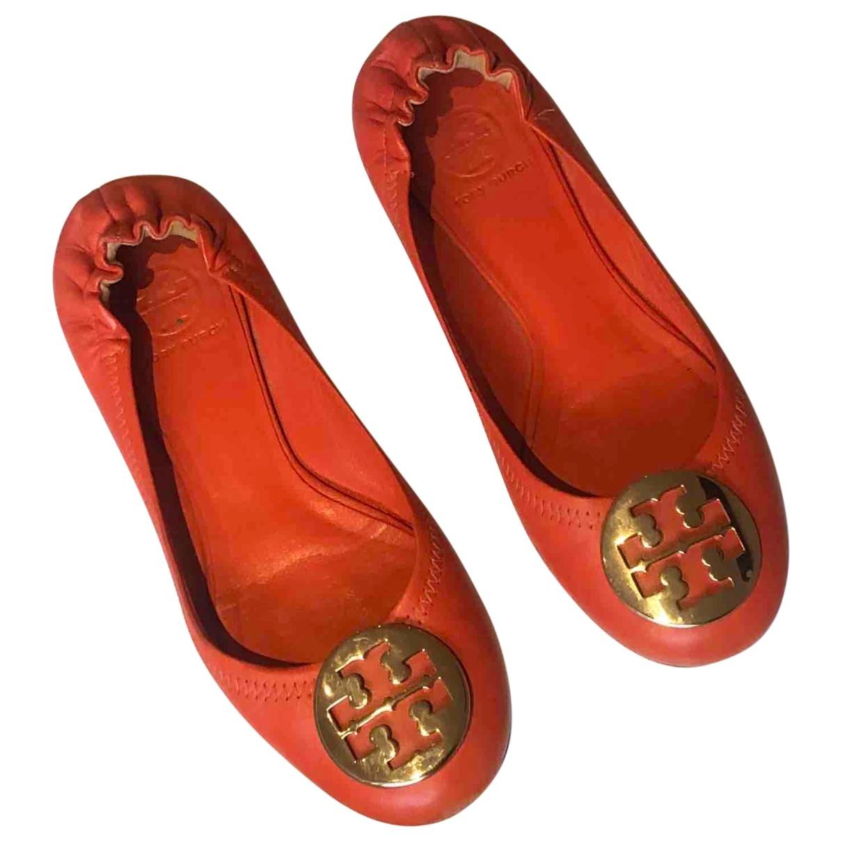Tory Burch \N Orange Leather Ballet flats for Women 7 US