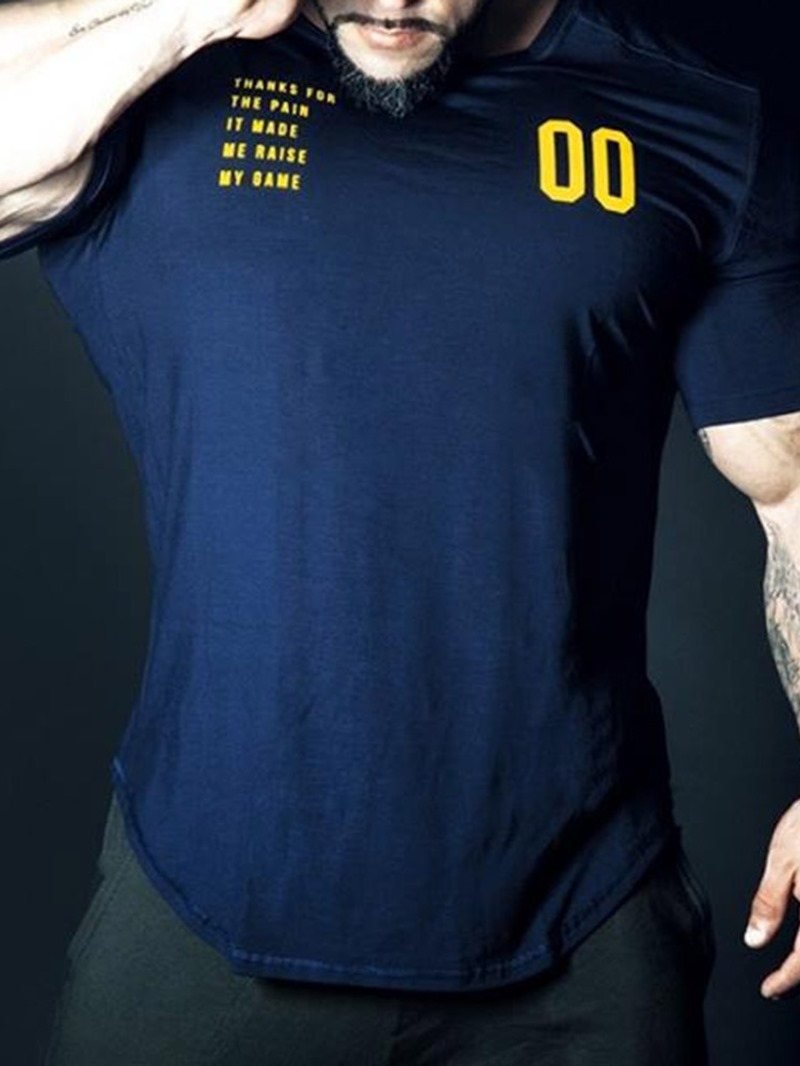 Ericdress Round Neck Casual Slim Short Sleeve T-shirt