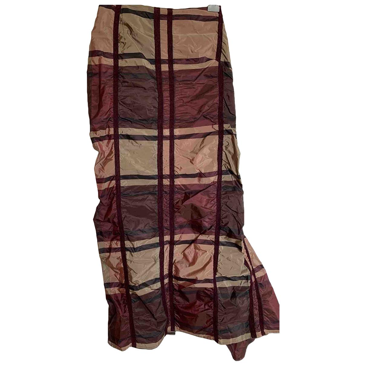 Talbot Runhof N Burgundy Silk skirt for Women 40 FR