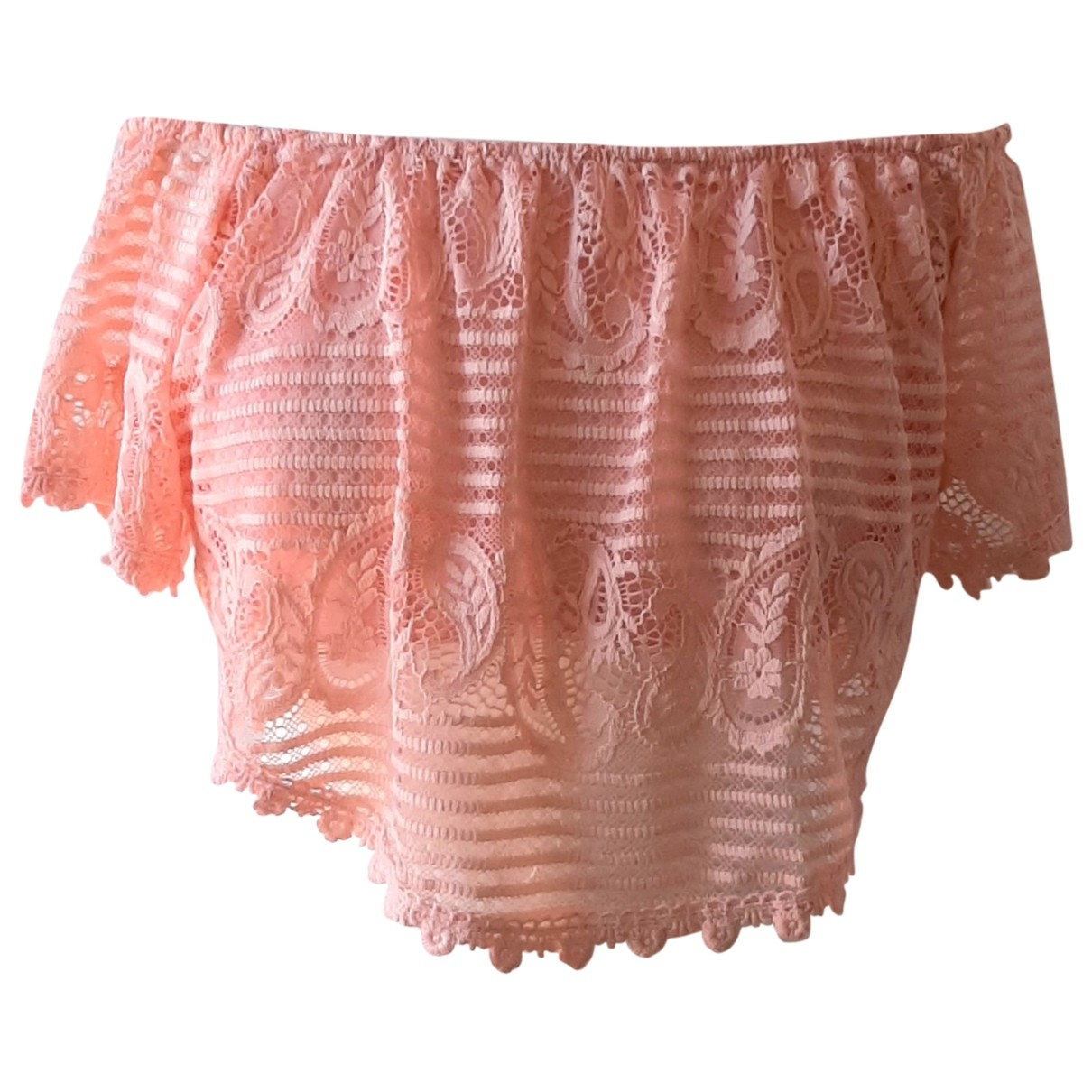 Non Signe / Unsigned \N Top in  Rosa Polyester
