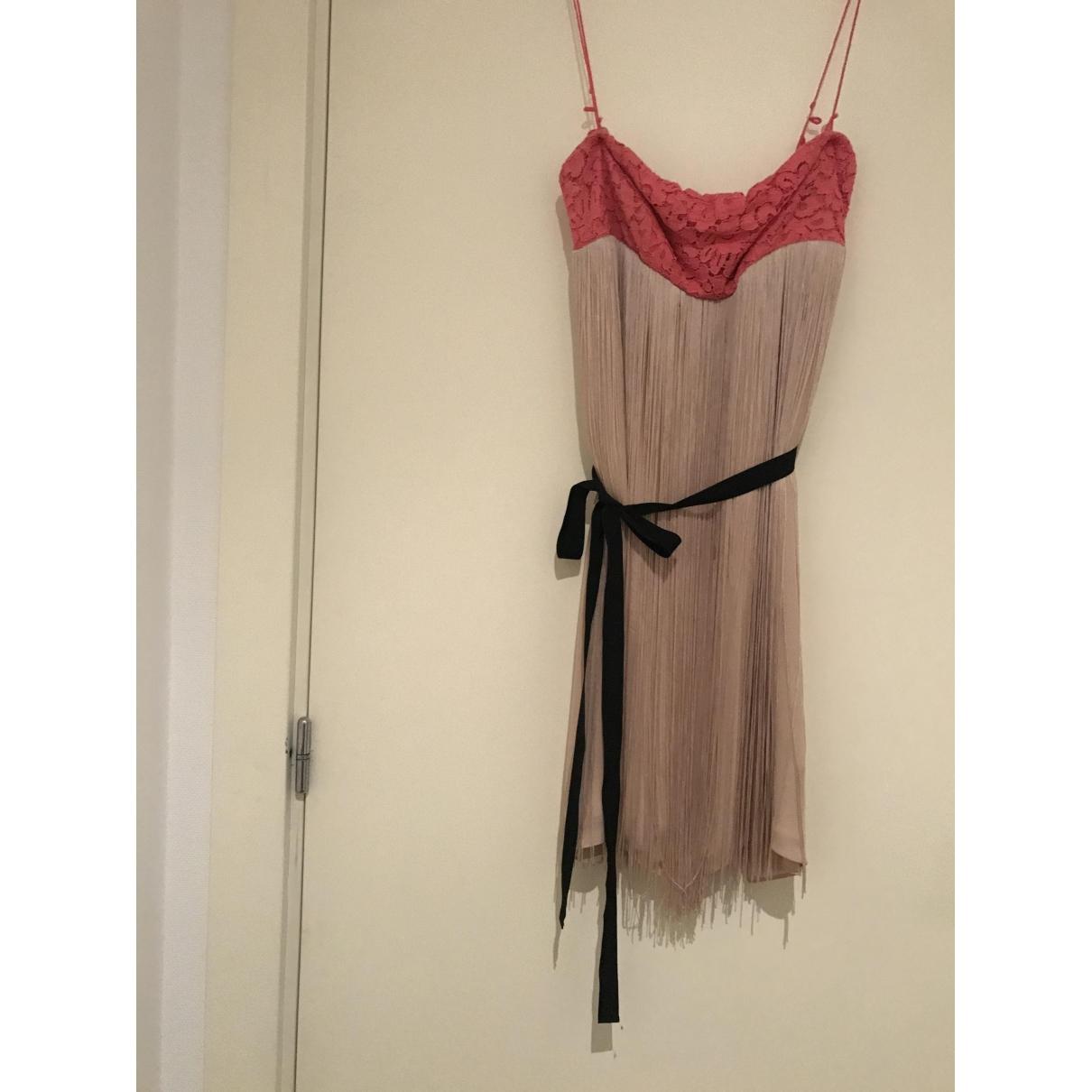 Pinko - Robe   pour femme en soie - beige