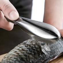 1 pieza escalador de pescado de acero inoxidable