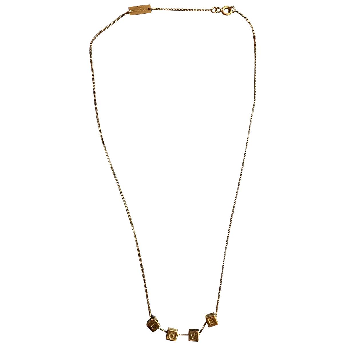Saint Laurent \N Kette in  Gold Metall