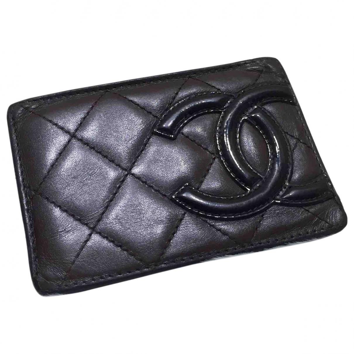 Chanel - Petite maroquinerie Cambon pour femme en cuir - marron