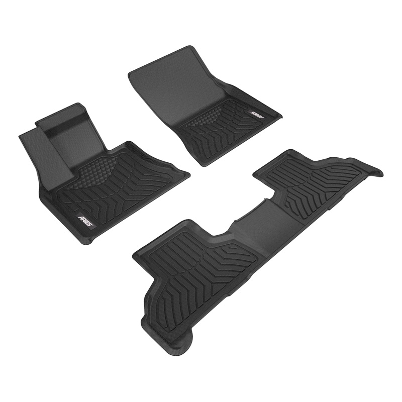 Aries 2800109 Thermoplastic Rubber Black Rubber StyleGuard XD Floor Liners