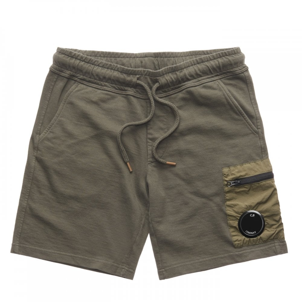 C.p. Company C.P Company Kids Goggle Patch Shorts Colour: KHAKI, Size: 14 YEARS