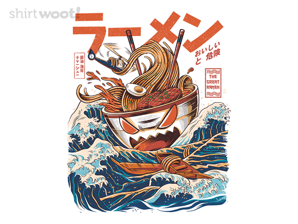 The Great Ramen Of Kanagawa T Shirt