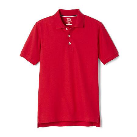 French Toast Big Boys Short Sleeve Polo Shirt, 16 Husky , Red