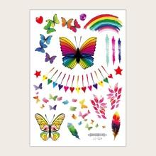 1 Stueck Tattoo Aufkleber mit Schmetterling Muster