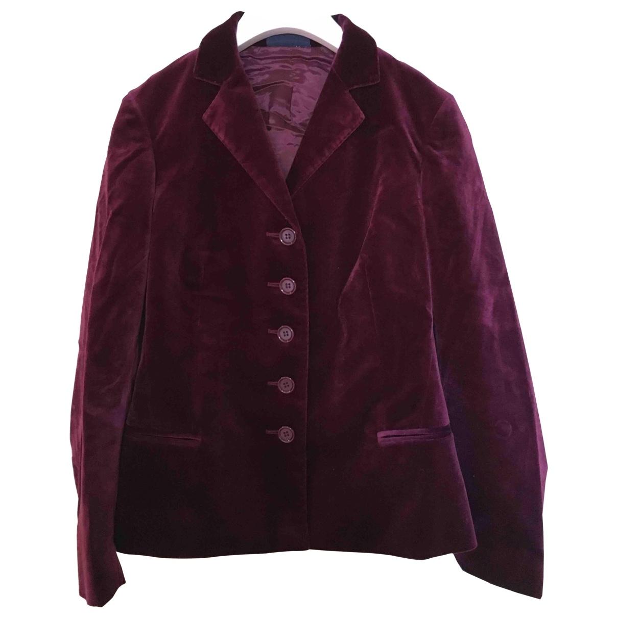 Aspesi \N Burgundy Velvet jacket for Women 40 IT
